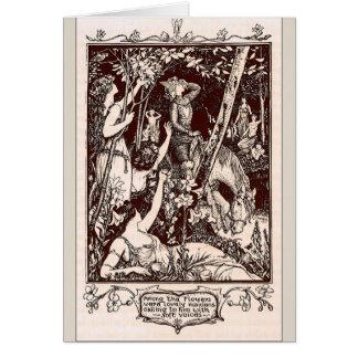 Tarjeta Doncellas en el bosque,
