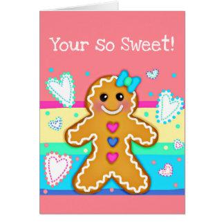 Tarjeta Donde las galletas sonríen y aman las ráfagas (sus