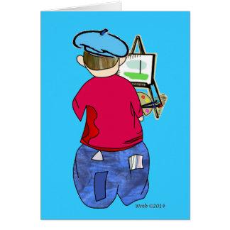 Tarjeta Doodle de Abe R - Artiste de Zee
