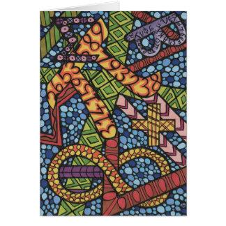 Tarjeta Doodle del friki de la matemáticas