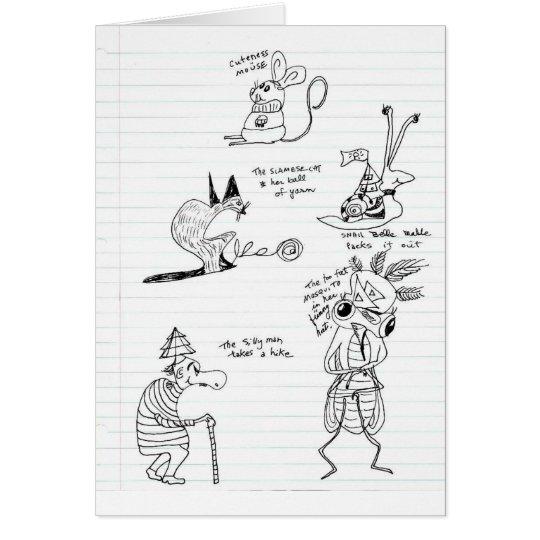 Tarjeta Doodles