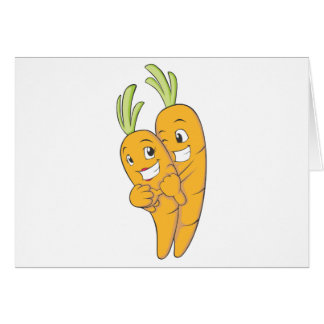 Tarjeta Dos amantes dulces de la zanahoria