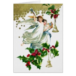 Tarjeta Dos ángeles con el navidad de Belces
