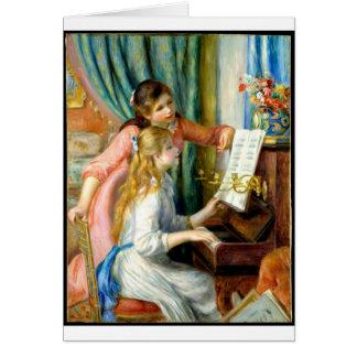Tarjeta Dos chicas en el piano - Pedro Auguste Renoir