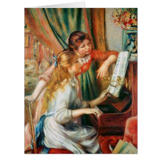 Tarjeta Dos chicas en el piano por Renoir grande