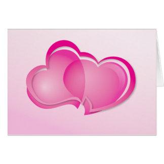 Tarjeta Dos corazones que fluyen