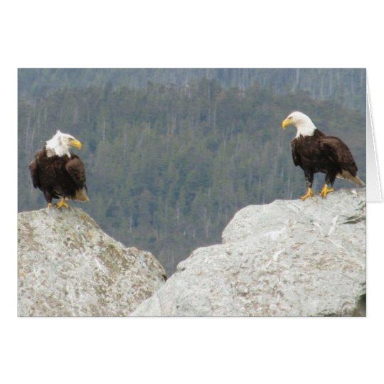 Tarjeta Dos Eagles calvos