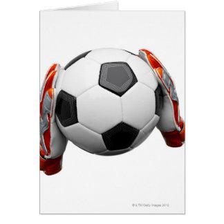 Tarjeta Dos guantes de los encargados de la meta que