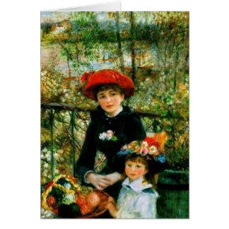 Tarjeta Dos hermanas (en la terraza) por Pedro Renoir