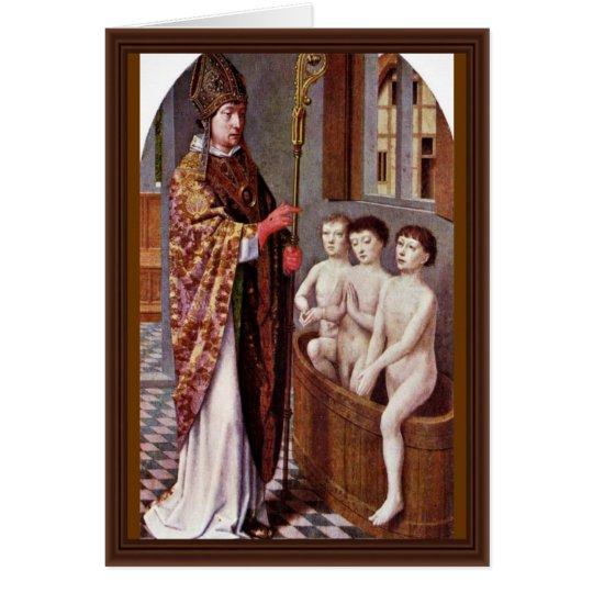 Tarjeta Dos leyendas de San Nicolás de David Gerard