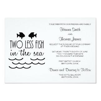 Tarjeta Dos menos pescados en el boda del mar