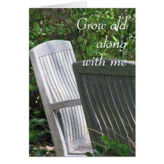 Tarjeta Dos sillas -- Crezca viejo conmigo