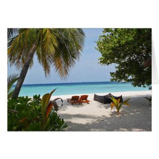 Tarjeta ¿Dos sillas/venidas al paraíso?