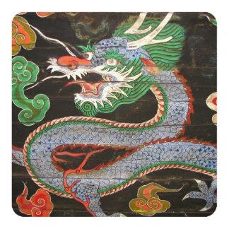 Tarjeta Dragón asiático del fiesta de cena el |