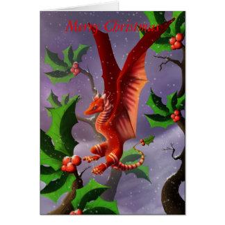 Tarjeta Dragón de la baya del invierno