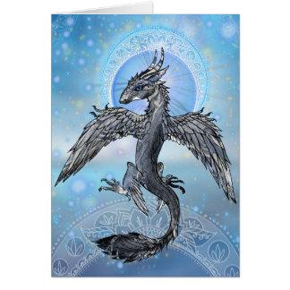 Tarjeta Dragón místico del pájaro