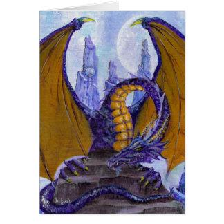 Tarjeta dragón púrpura