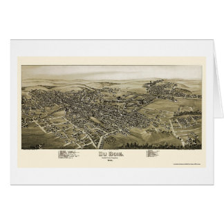 Tarjeta Du Bois, mapa panorámico del PA - 1895