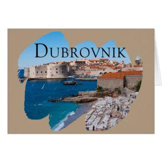 Tarjeta Dubrovnik con una visión