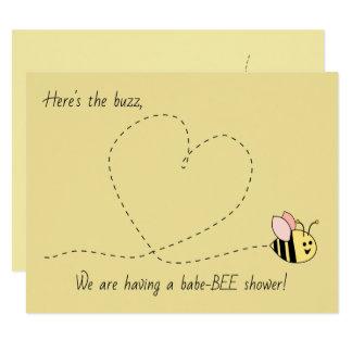 Tarjeta Ducha del chica de la abeja del bebé