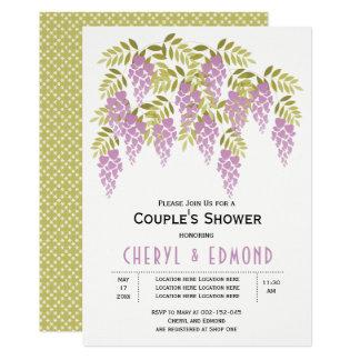 Tarjeta Ducha floral de los pares del boda de las