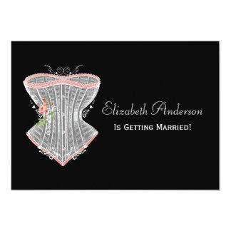 Tarjeta Ducha nupcial de la ropa interior personal del