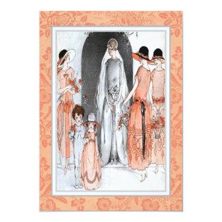 Tarjeta Ducha nupcial del fiesta del ilustracion de los