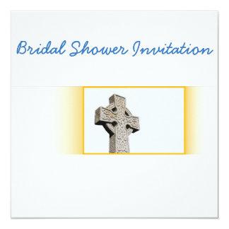 Tarjeta Ducha nupcial del tema del boda de la cruz