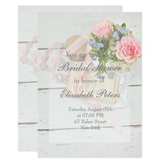 Tarjeta Ducha nupcial editable de la flor romántica del