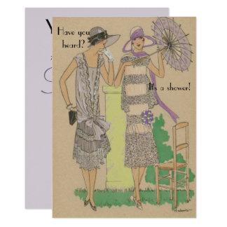 Tarjeta Ducha parisiense de la moda de la aleta de la