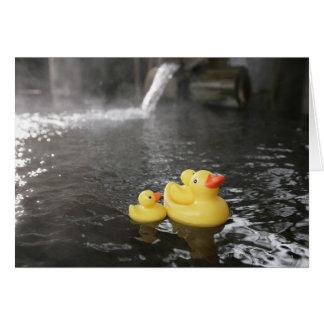 Tarjeta Duckies de goma japonés