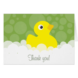 Tarjeta Ducky de goma le agradecen observar - verde