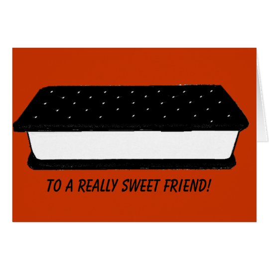 Tarjeta dulce del amigo