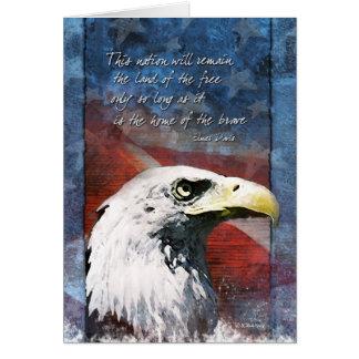 Tarjeta Eagle patriótico