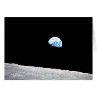 Tarjeta Earthrise: con cita-- Tirado de Apolo 8