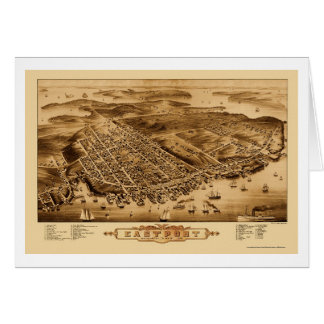 Tarjeta Eastport, YO mapa panorámico - 1879