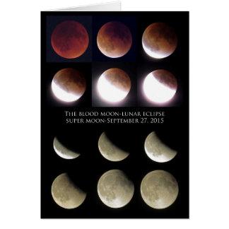 Tarjeta Eclipse lunar domingo 27 de septiembre de 2015