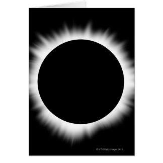 Tarjeta Eclipse solar con la corona