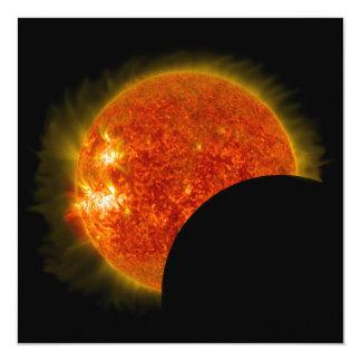 Tarjeta Eclipse solar en curso