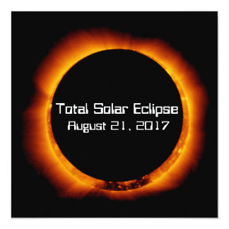 Tarjeta Eclipse solar total 2017