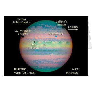 Tarjeta Eclipse triple de la NASA Júpiter
