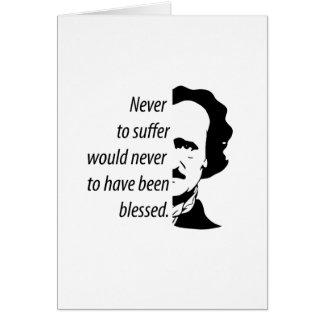 Tarjeta Edgar Allan Poe