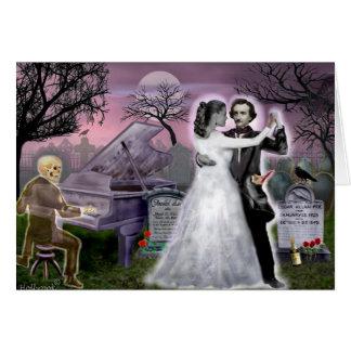Tarjeta Edgar Allan Poe y Annabel Lee eternamente