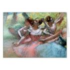 Tarjeta Edgar Degas el | cuatro bailarinas en la etapa