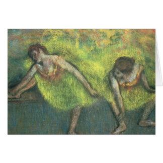 Tarjeta Edgar Degas el   dos bailarines que se relajan