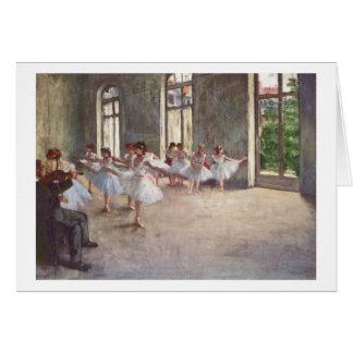 Tarjeta Edgar Degas el   el ensayo del ballet