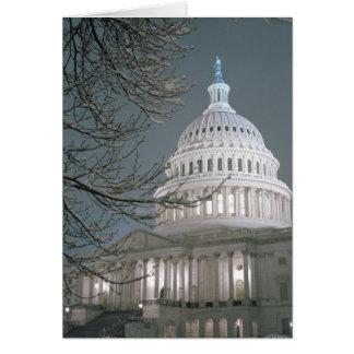 Tarjeta Edificio del capitolio de Estados Unidos en