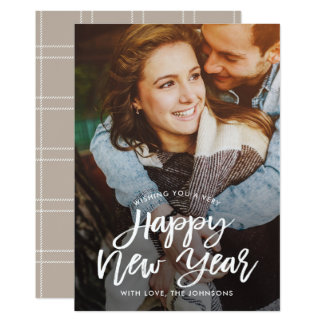 Tarjeta EDITABLE de la foto del Año Nuevo del