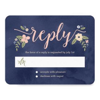 Tarjeta Editable de la respuesta del boda del Invitación 10,8 X 13,9 Cm