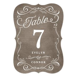 Tarjeta Editable del número de la tabla de color Invitación 12,7 X 17,8 Cm